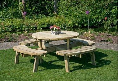Round picknicktafel