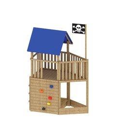 Bas speeltoren piratenschip