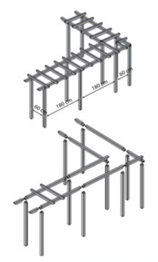 Charlotte modulair pergolasysteem: hoekligger