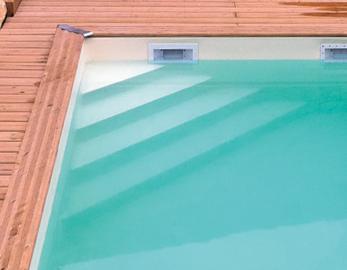 Instaptrap voor zwembad